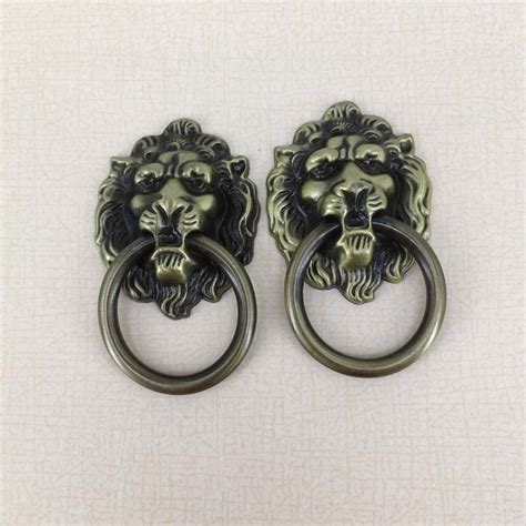lion head cabinet pulls antique brass lion head pull handle furniture