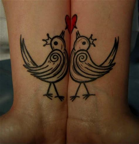 couples tattoos love birds tattoo models designs