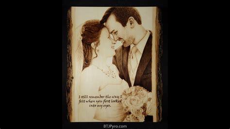 woodburning   couples wedding portrait  speed