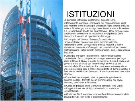 sedi unione europea storia istituzioni economia ppt scaricare