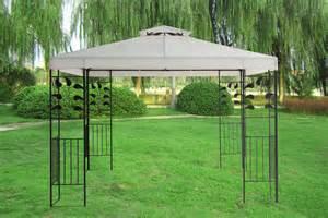 Metal Garden Gazebo 3x3m Pavilion Metal Gazebo Awning Canopy Sun Shade Shelter