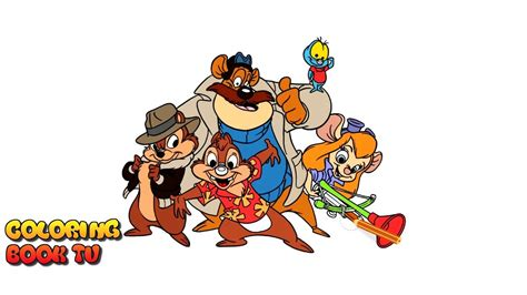 Chip And Dale Rescue Rangers Coloring Pages by Chip N Dale Rescue Rangers Coloring Pages For