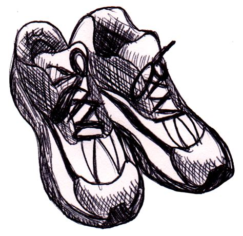 running shoe drawing running shoes sketch by dandantheartman on deviantart