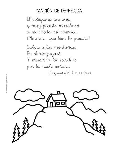 poesias para fin de curso en preescolar y educacin infantil la clase de sara poemas y canciones