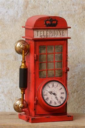 clock vintage telephone booth audreys