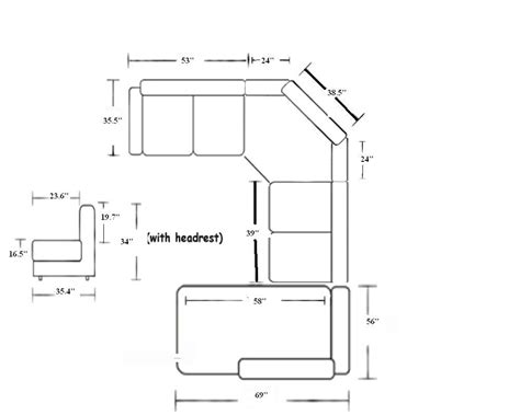 sectional sofa dimensions rooms