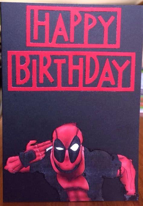 deadpool card rellb  craftree  saving  day deadpool birthday blast birthday fun