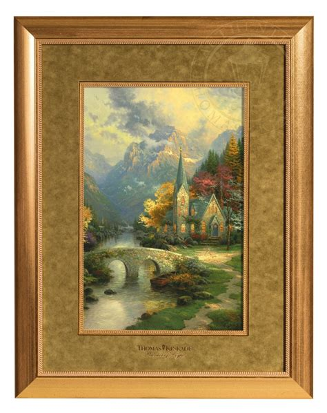Framed Matted Prints the mountain chapel framed matted print the kinkade company
