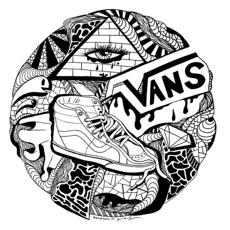 circle pattern drawings tumblr art circle vans drawing by kenal louis