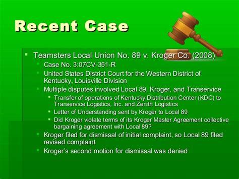 Kroger Transfer Letter The Grievances Process