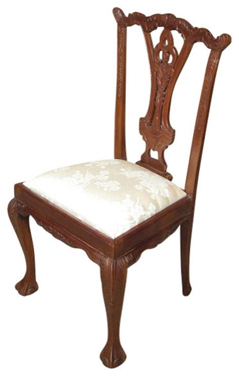 stanton tan floral print dining chairs set of 2 great solid mahogany chippendale beige floral occasional side