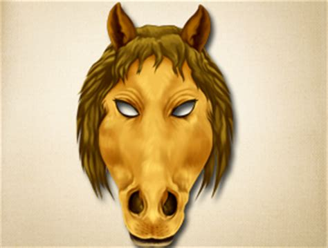 printable mask of horse horse face mask template gallery