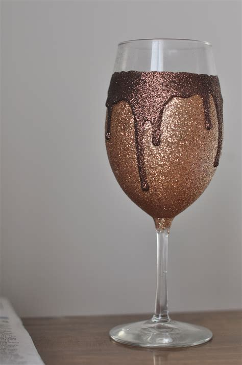 Decorating Glass With Glitter by Diy Glitter Drip Wine Glasses Satiatedsparkle