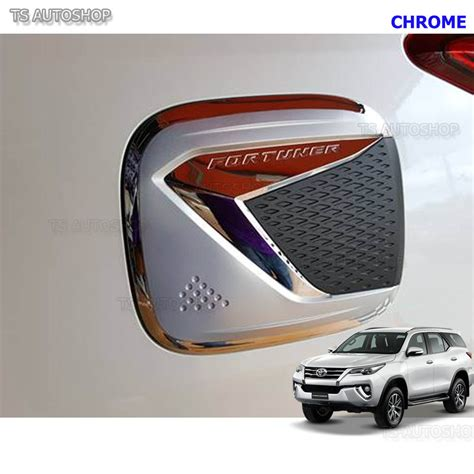 All New Fortuner Tank Cover Chrome Fitt Chrome Fuel Tank Cap Door Cover Fit New Toyota Fortuner Suv 2016 2017 Ebay