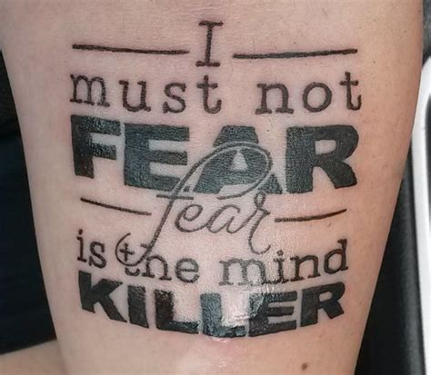 fear is the mind killer tattoo 101 best images about text tattoos on