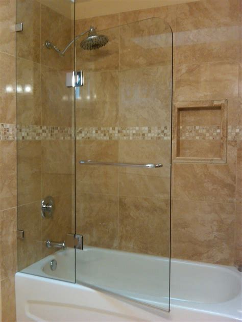 Fixed Panel And Door European Style Tub Glass Shower Doors Bath