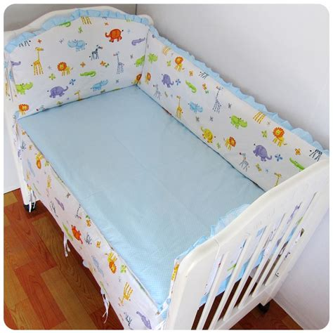 Cheap Cot Bed Bedding Sets Discount 6pcs Baby Cot Set Cotton Baby Bed Bumper Cot Sheets Baby Cot Sets Sabanas Cuna Include