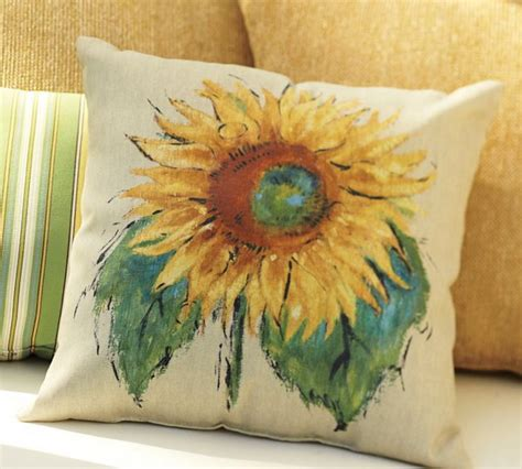 Pottery Barn Sunflower Pillow pottery barn painted sunflower indoor outdoor pillow 20