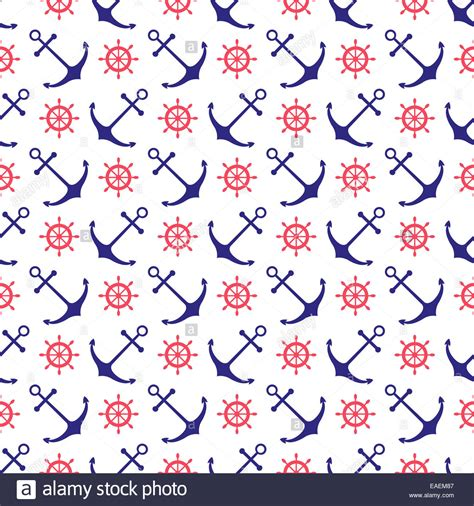 nautical background seamless nautical background with anchors and ship wheels
