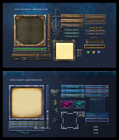design game gui fantasy game ui by karsten on deviantart