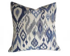 Navy And Gray Throw Pillows Blue Ikat Pillows White Blue Pillows Navy Blue Grey