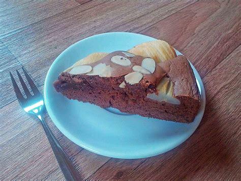birnen schoko kuchen schoko birnen kuchen rezept mit bild