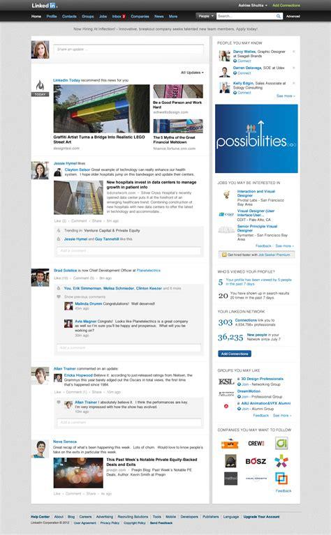 home design social network linkedin introduce un nuovo design per l homepage