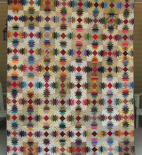 Pineapple Patchwork - perusal in plaid pineapple patchwork quilt handmade by