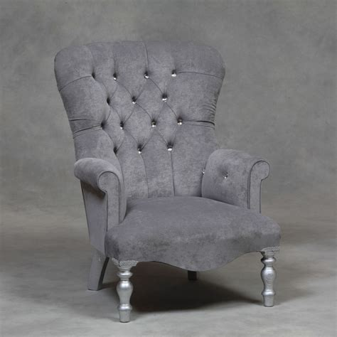 Grey Armchair Uk Grey Velvet Small Armchair Ebay