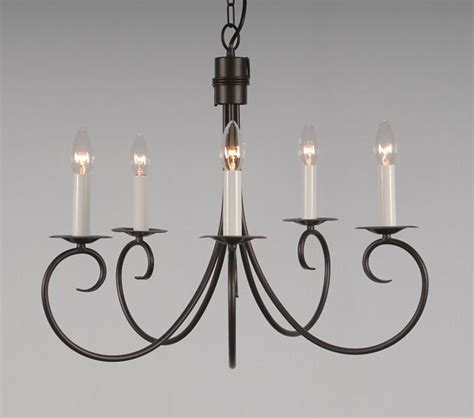 Wrought Iron Candle Chandelier The Ufford 5 Arm Wrought Iron Candle Chandelier
