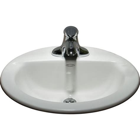 american standard kitchen sinks lowes american standard 0346403 020 white topmount oval bathroom