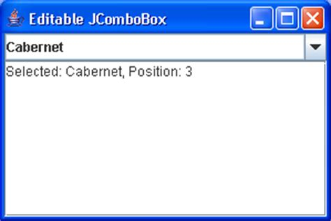 java swing drop down list using drop down lists combobox 171 swing jfc 171 java