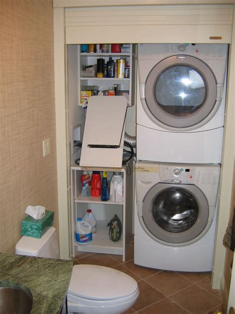 Laundry Closet Door Laundry Closet With Roll Up Door Remodeling Westchester