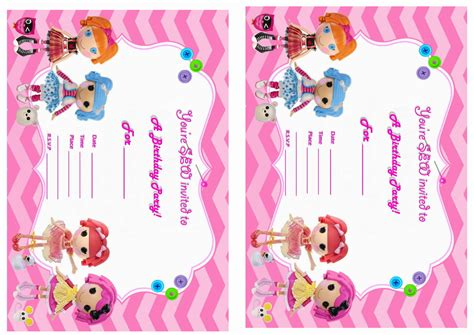 printable lalaloopsy invitations 6 best images of lalaloopsy birthday invitations printable