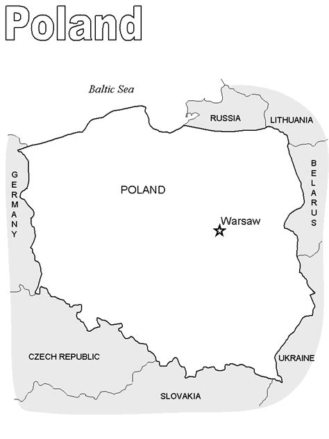 printable map of poland printable maps printable poland map2 countries coloring pages