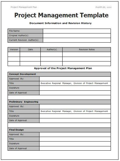 project management templates project management