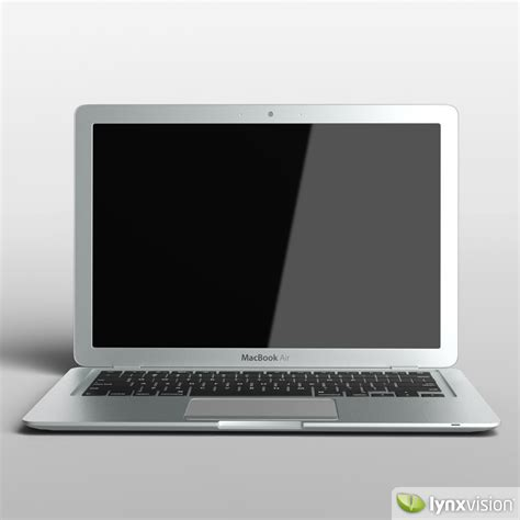 Macbook Air Replika apple macbook air notebook 3d model max obj fbx cgtrader