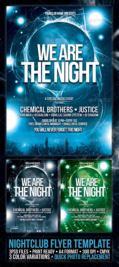 nightclub flyer poster template night club fliers