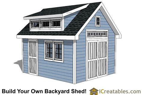14x16 shed plans with dormer icreatables 10x14 shed plans with dormer icreatables