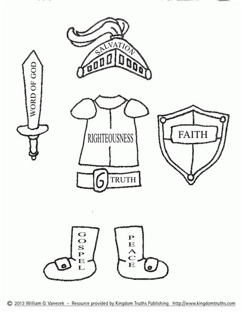 armor of god coloring page az coloring pages