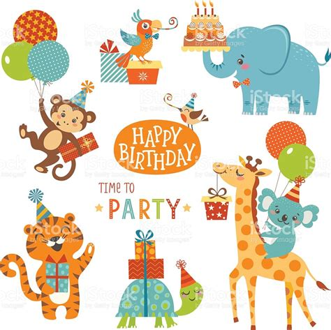 Happy birthday animals stock vector art 539348020 istock