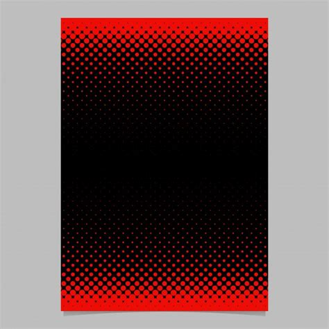 Circle Card Stitch Template by Color Abstract Halftone Circle Pattern Card Template
