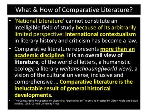 themes of comparative literature comparative literature studies