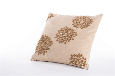 bead pillow gold beaded pillow rental encore events rentals