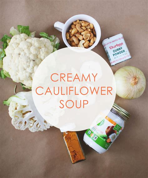 Cauliflower Detox Soup by In The Kitchen Cauliflower Detox Soup Val