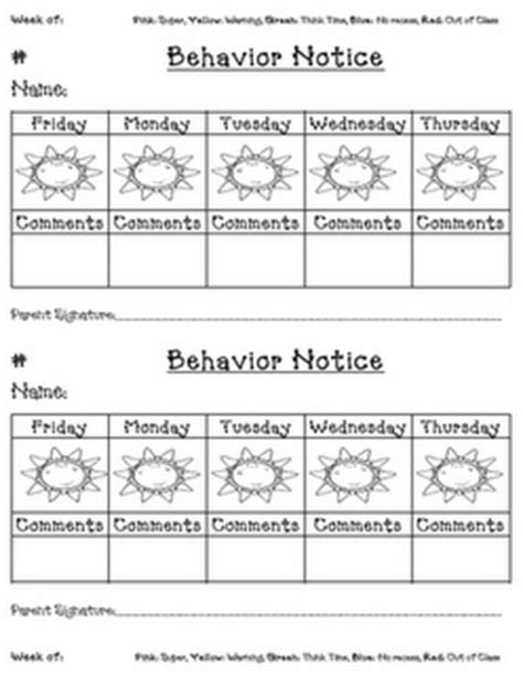 printable behavior journal 42 best images about behavior pledge on pinterest free