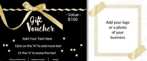 gift card of your choice template gift vouchers