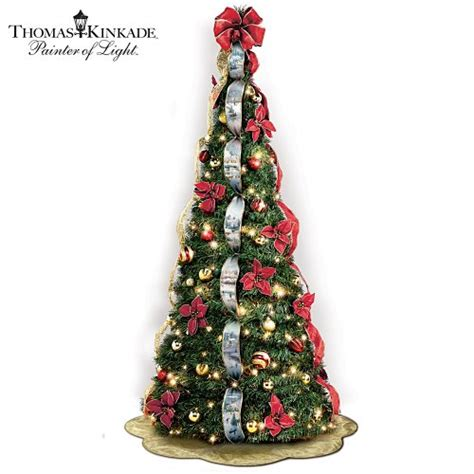 pull up decorated tree gt cheap kinkade pre lit pull up tree