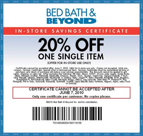 printable coupon bed bath and beyond bed bath and beyond 20 off printable my blog