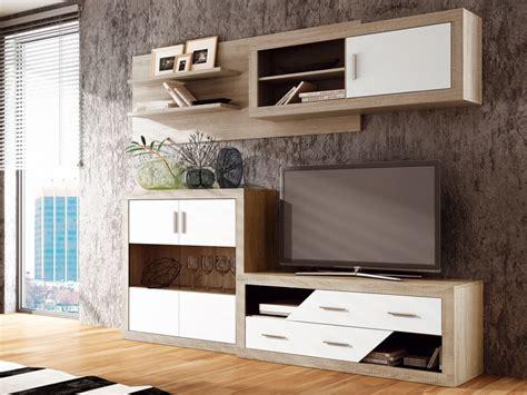 muebles salon comedor muebles sal 243 n comedor de color roble y blanco modulares